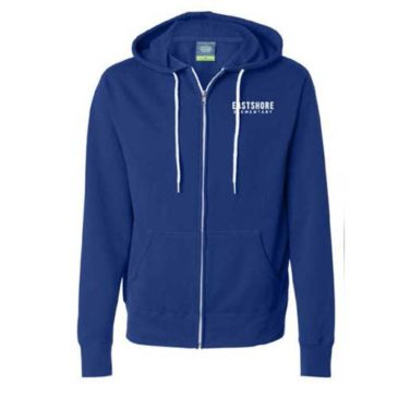 Youth American Apparel Zip Front Hooded Sweatshirt